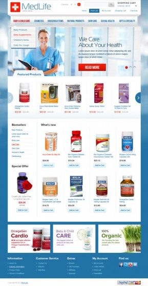 MedLife OpenCart template ID: 300111561