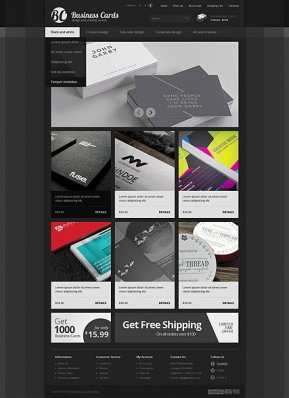 Business cards OpenCart template ID: 300111562
