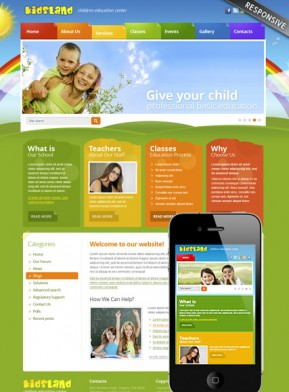 Kindergarten templates, Website templates from www.bootstrap ...