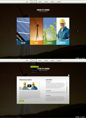 Renewable energy HTML5 template ID: 300111574