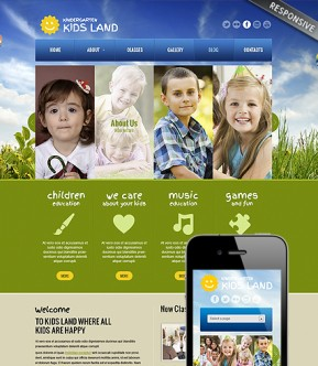Kindergarten Land Wordpress template ID: 300111575