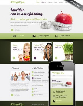 Weight loss v3.0 Joomla template ID: 300111578