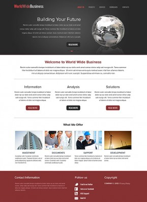 WorldWide Business HTML template ID: 300111579