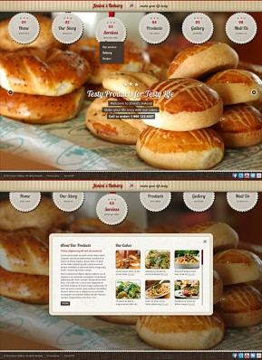Bakery and Cakes HTML5 template ID: 300111581