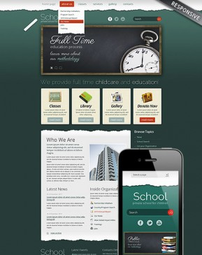 School Theme Wordpress template ID: 300111590
