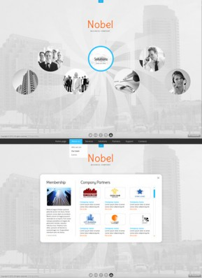 Business Circles HTML5 template ID: 300111591