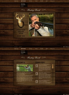 Hunting Ranch HTML5 template ID: 300111593