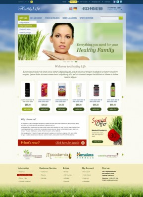 Healthy Life OpenCart template ID: 300111598
