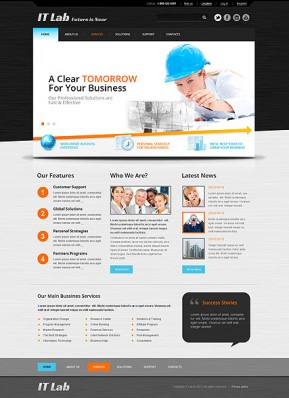 IT Laboratory Bootstrap template ID: 300111605