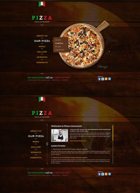 Pizza HTML5 template ID: 300111613