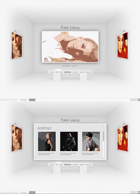 Artist Exhibition HTML5 template ID: 300111617