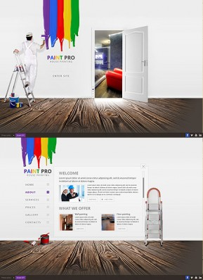 House Painter HTML5 template ID: 300111619