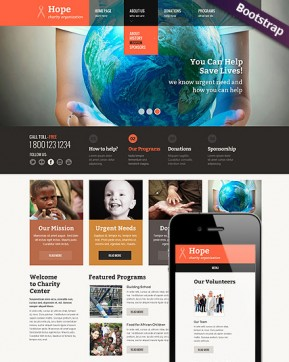 Children Charity Bootstrap template ID: 300111623