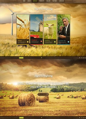 Agro Company HTML5 template ID: 300111626
