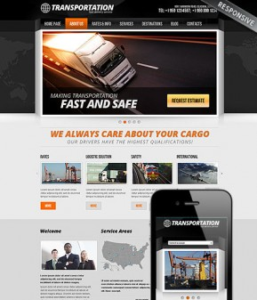 Transportation Wordpress template ID: 300111631