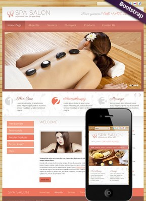 Spa Salon Bootstrap template ID: 300111632