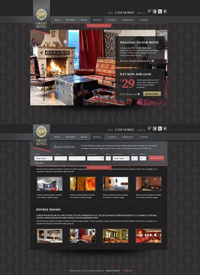 Great Hotel HTML5 template ID: 300111633
