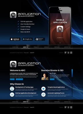 Software Developer HTML5 template ID: 300111635