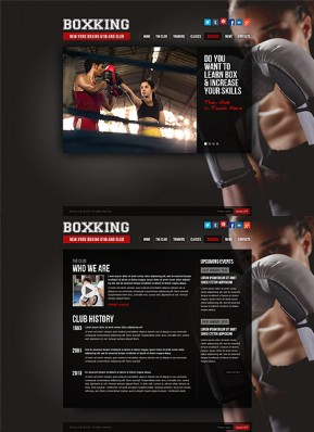 Boxing HTML5 template ID: 300111637