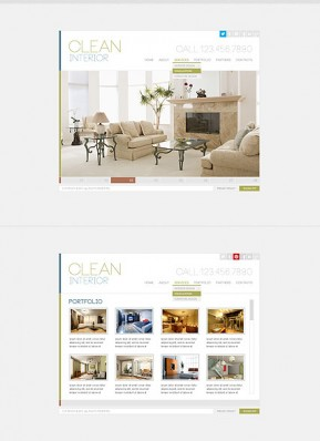 Clean Interior HTML5 template ID: 300111638