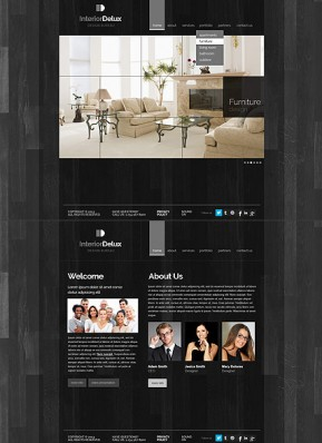 Interior Design HTML5 template ID: 300111645