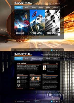 Industrial HTML5 template ID: 300111646