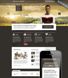 Christian Church Wordpress template ID: 300111660