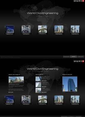 Civil Engineering HTML5 template ID: 300111665