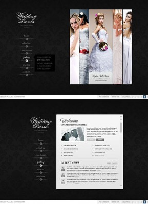 Wedding Dresses HTML5 template ID: 300111670