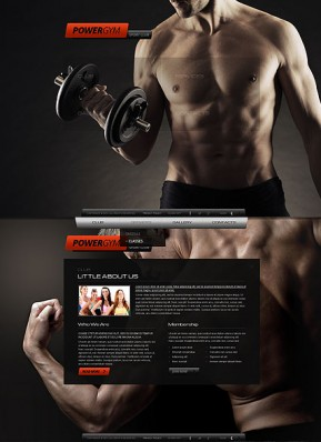 Gym Sport Club HTML5 template ID: 300111676