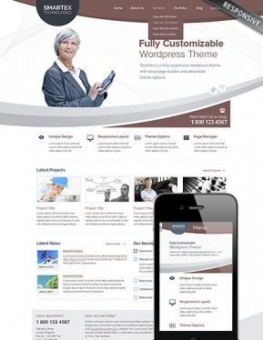Business Corp Wordpress template ID: 300111677