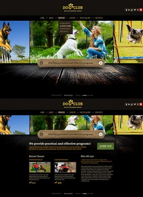 Dog Club HTML5 template ID: 300111678