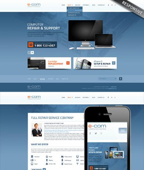 Computer Repair Wordpress template ID: 300111679