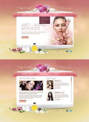 Beauty Spa Salon HTML5 template ID: 300111681