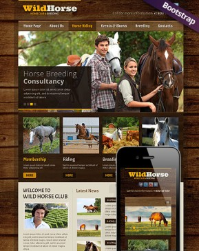 Wild Horse Bootstrap template ID: 300111682