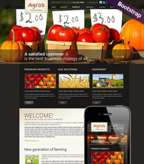 Agriculture Bootstrap template ID: 300111688