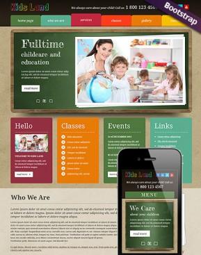 Kids Land Bootstrap template ID: 300111690