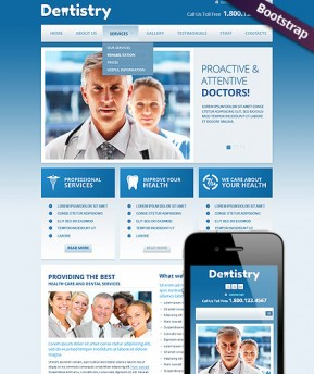 Dentistry Bootstrap template ID: 300111692