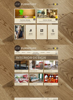 Interior Furniture HTML5 template ID: 300111693