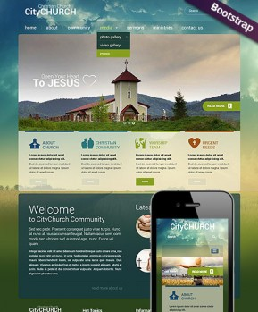 Church Bootstrap template ID: 300111698