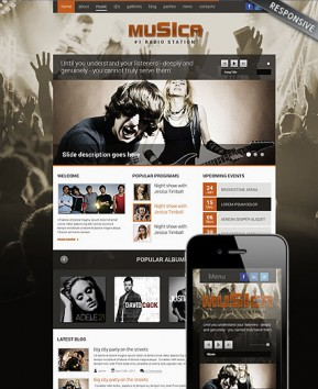 Music Theme Wordpress template ID: 300111699
