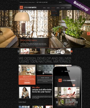 Interior and decore Bootstrap template ID: 300111705