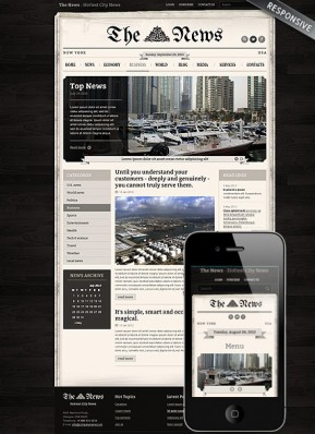 Newspaper Wordpress template ID: 300111708