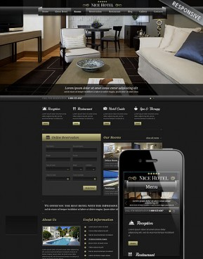 Best Hotel Wordpress template ID: 300111715