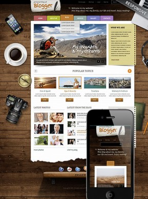 Blogger Wordpress template ID: 300111717
