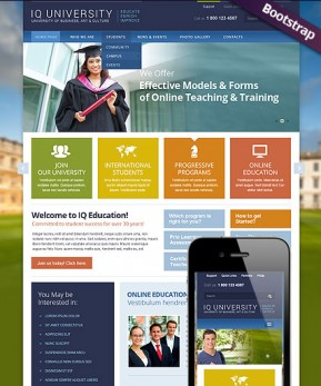 IQ University Bootstrap template ID: 300111722