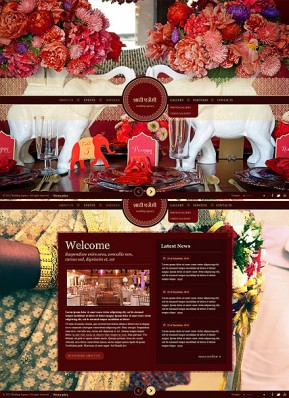 Indian Wedding HTML5 template ID: 300111725