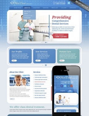 Dental Clinic Wordpress template ID: 300111728