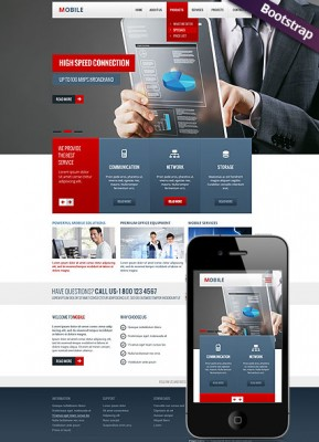 Mobile Bootstrap template ID: 300111730
