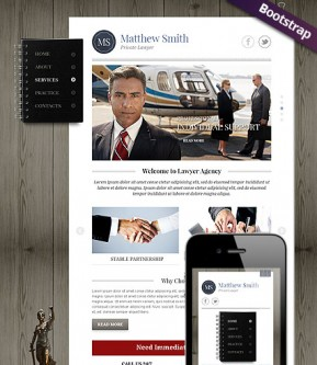 Private Lawyer Bootstrap template ID: 300111731